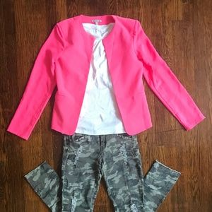 Hot Pink Fashion Blazer by Charlotte Russe 💋
